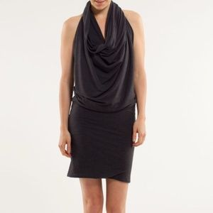 "Lululemon black/grey ""cover it all"" dress size SM"